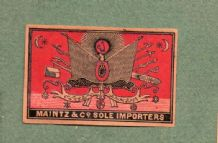 Collectible  match box labels CHINA or JAPAN patriotic #311